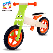 Wholesale vintage wooden cartoon balance bike for kids learning ride in outdoor W16C095-F