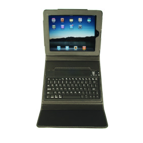 Black Leather Case with Bluetooth Keyboard