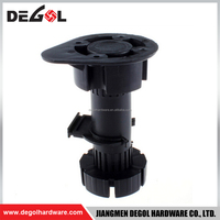 Durable PP plastic black colour table leg adjustable furniture leg