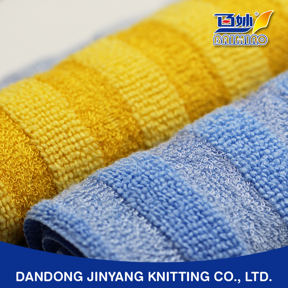 mild texture daily use private custom colored fringe microfiber towel fabric roll