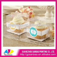 4C Printing Design clear plastic cupcake box packaging