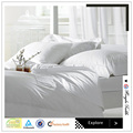 50% cotton 50% polyester white bed sheets set for hotels and hospitals