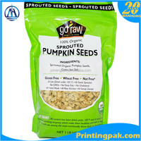 8 oz stand up packaging bags with ziplock for Sprouted Pumpkin Seeds