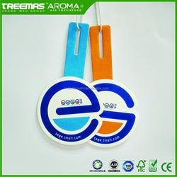 Scent paper car air freshener with OEM logo shape and design