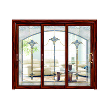 Competitive price factory supply fashion 3 panel aluminium alloy frame glass sliding room fire rated front door window designs