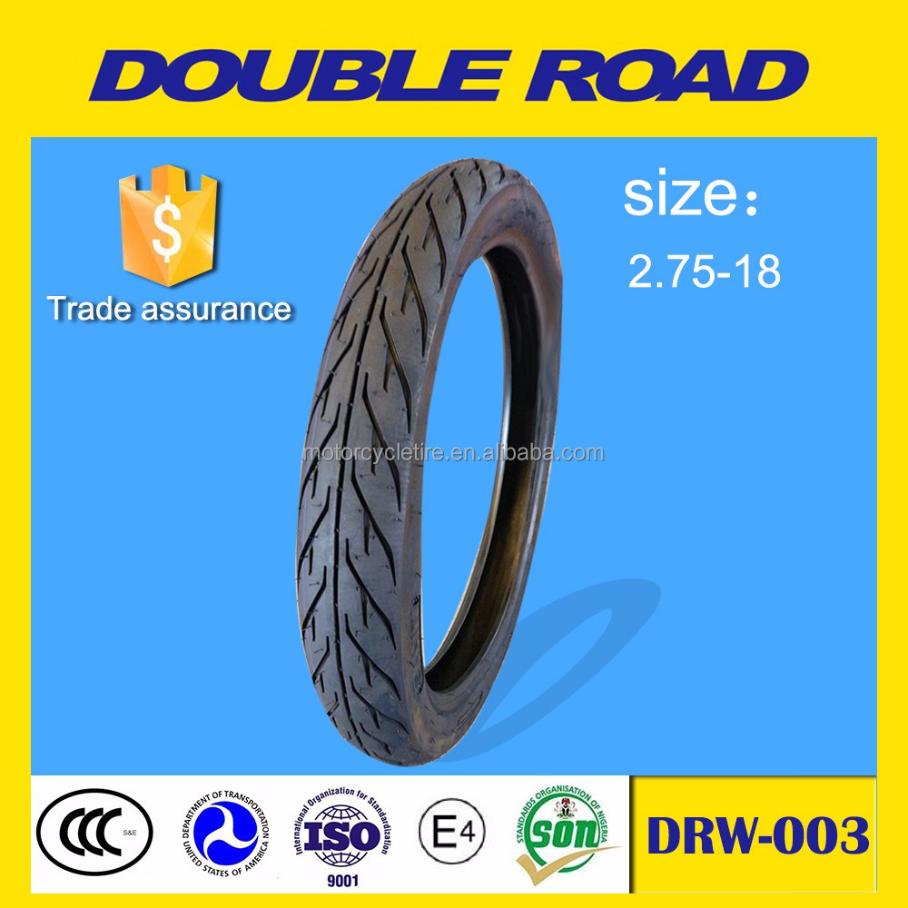 Qingdao factory supplier tubeless motorcycle tire 2.75-18 designed for indonesia
