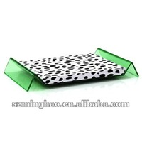 acrylic pet bed for dog /cat animals with cushion