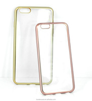Crystal Transparent with Electroplated TPU Cover For iPhone6,for iphone covers