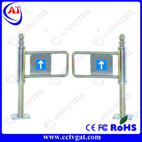 Stainless steel manual swing barrier gate bi-directional mechanical turnstile security rfid access control systems