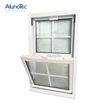 Aluminium Sliding Window Tempered Glass Adjustable Single Hung Window With Lowe Film