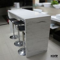 U shape acrylic solid surface customized interactive bar table