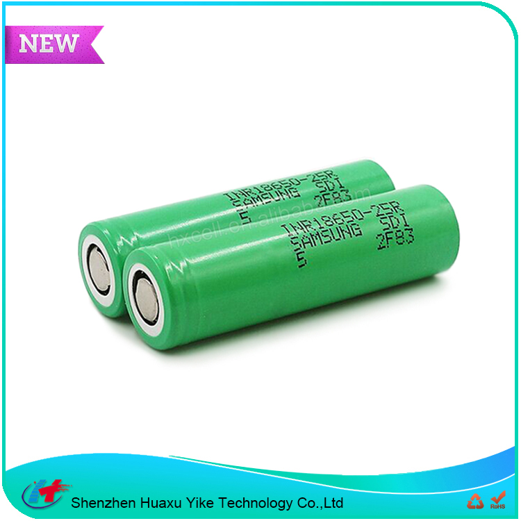 Genuine Samsung Inr18650-25r 2500mAh 20A Rechargeable Vape Box Mechanical Mod Electronic 25r Li-ion 18650 Battery