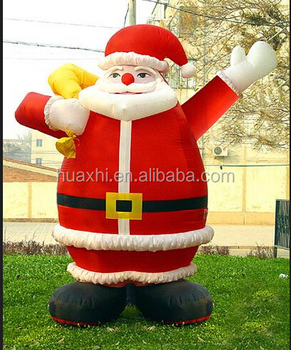 High quality inflatable western christmas decorations santa
