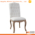 white linen fabric antique wooden carving dining chairs