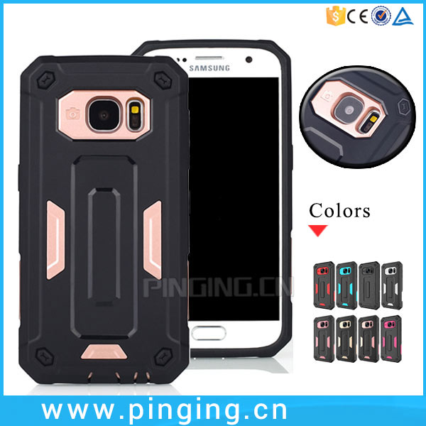 2016 New Product PC TPU Hybrid Rugged Case For Samsung Galaxy s7 Made In China