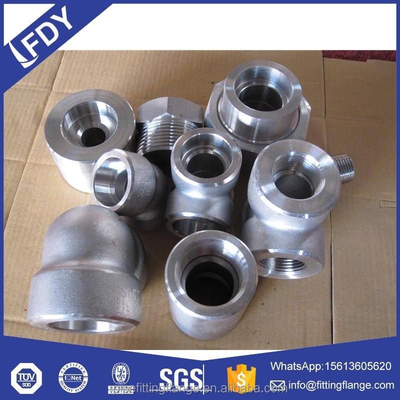 DIN2353 1/2''NPT thread end coupling reducer for tube connector pipe fittings