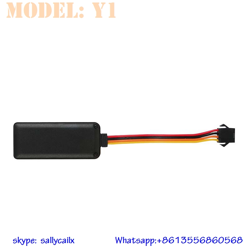 Y1 waterproof IP65 gps tracker with accelerometer power cut off function