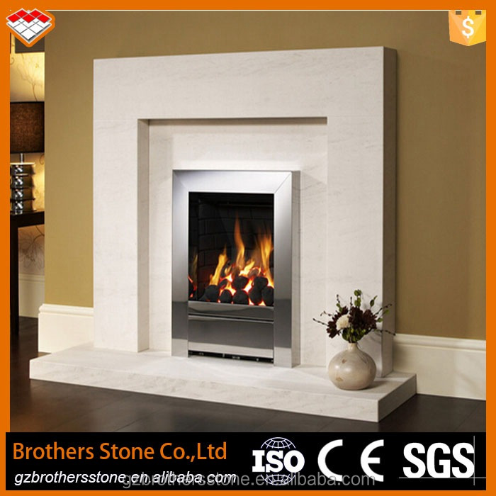 Electric fireplace parts luxury white marble stone Luxury fireplace designs
