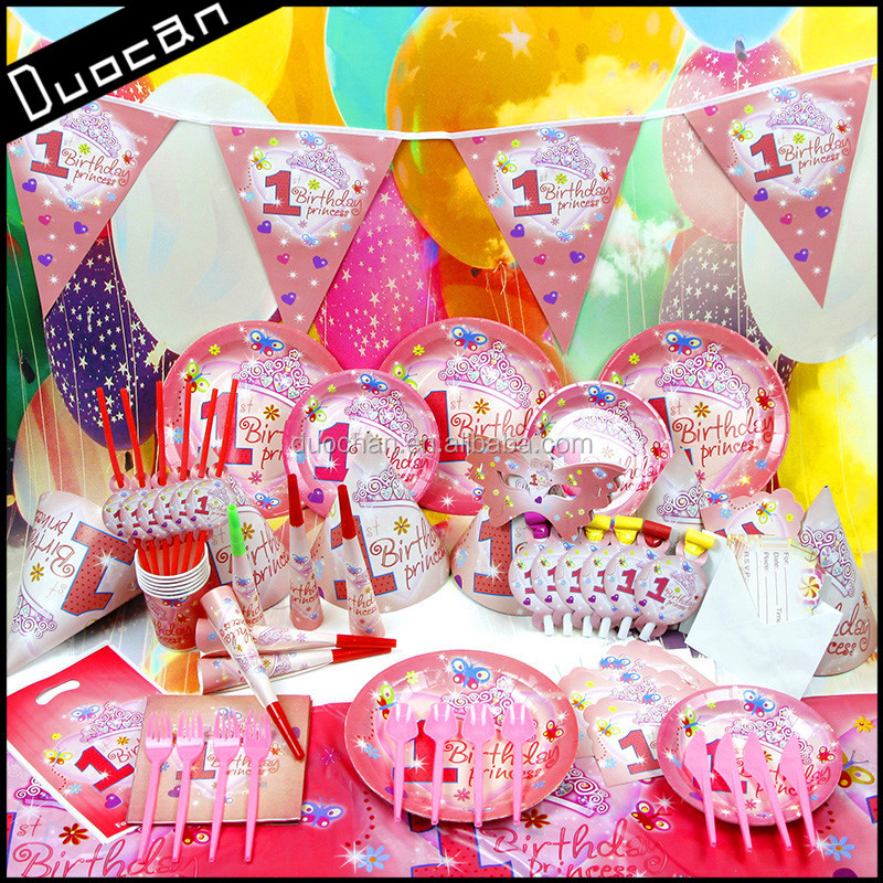 Wholesale theme paper children birthday party supplies in for Baby birthday party decoration