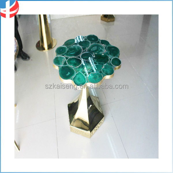 luxury Brazil agate gemstone coffee table lounge table meeting table