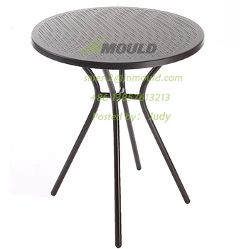new style rattan table /injection mould for rattan round table