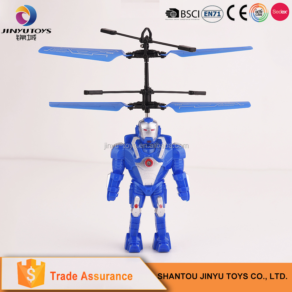 Rechargeable remote control toy infrared induction flying toys small plastic helicopter toy