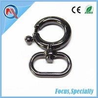 Round Black Metal Snap Hook For Bag Accessories