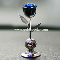 Silver Blue Rose Small Size Car Aroma and Home Aroma Decorative With Gift Case