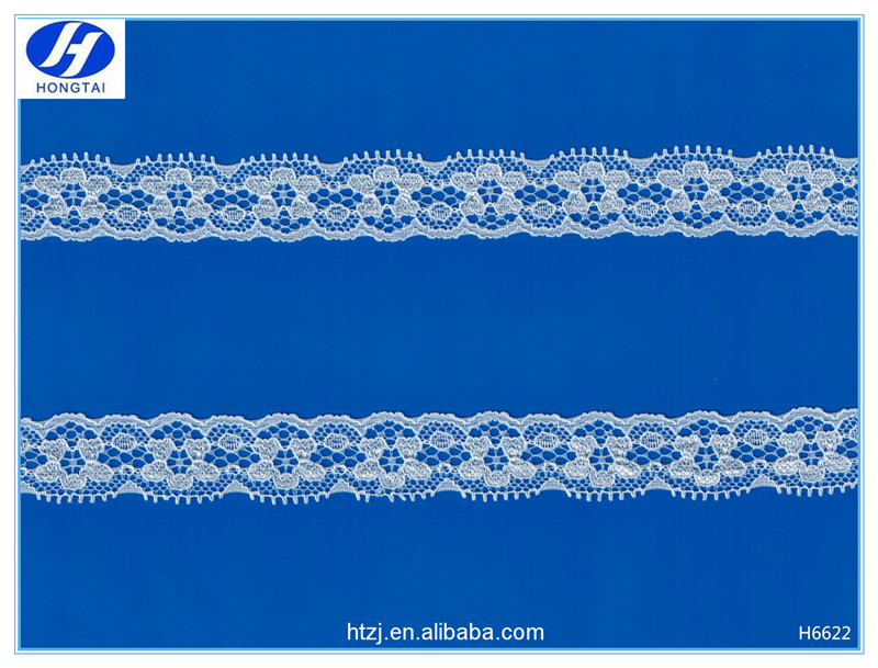 Hongtai Last Polyester nylon cutwork lace designs trimming for lingerie