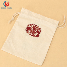 small cotton fabric muslin drawstring bag for promotional gifts