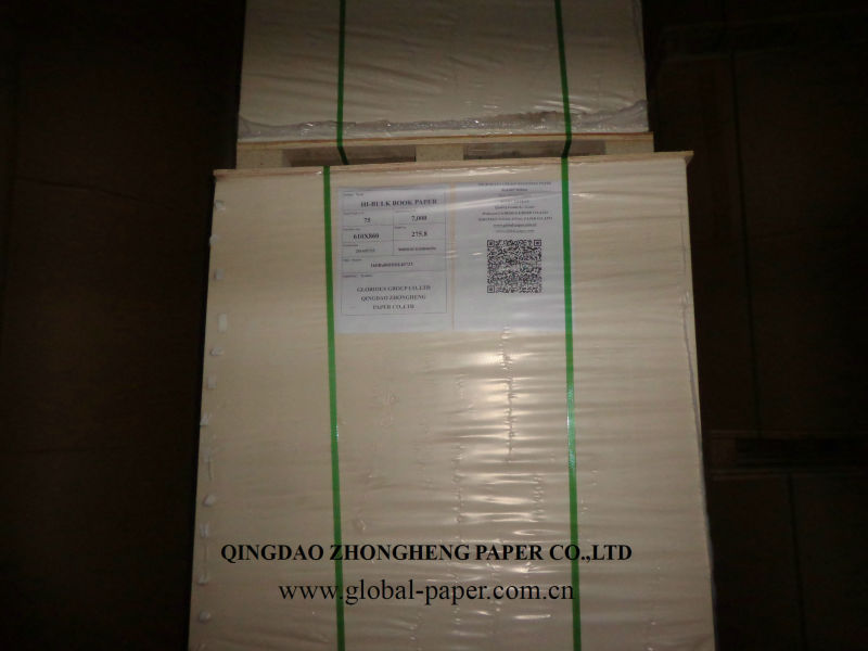 BULKY BOOK PAPER 60-80 GSM Qingdao Z&H Paper Company Ltd