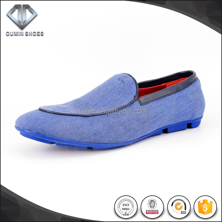wholesale comfortable casual men shoes casual leather shoes loafer style selling very good blue