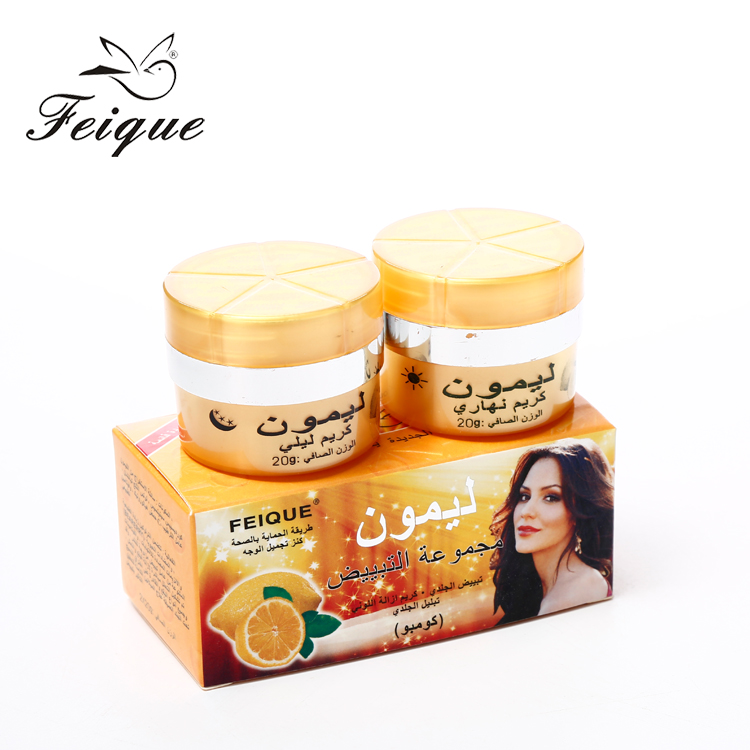 Wholesale Feique best lemon whitening face <strong>cream</strong> for black skin in sri lanka
