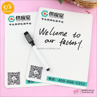 Alibaba suppliers custom promotional magnetic dry magnet white erasable board with pen