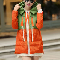 D24050Q 2014 the new designs winter Korean fashion women hooded big yards down coat