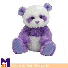 china wholesale custom promotional purple panda plush toys