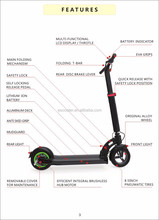 High quality and quick lock adult foldable electric scooter, folding adult electric bike