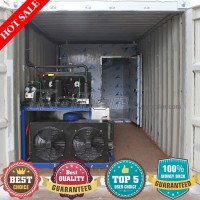 2 tons per day Contanierized Ice block machine and cold room in 20 GP container