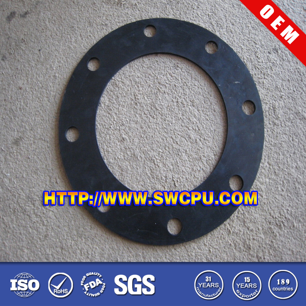 Custom white round flat heat resistant epdm circle rubber gasket