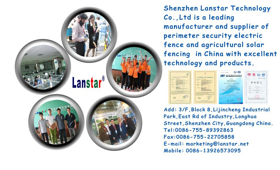 Best security product Intelligent security electric fencing system energizer LX-2008DC fence wire alarm system