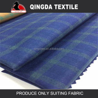 W2022 shaoxing qingda man workwear suit fabric check new design rayon spandex fabric wholesale dubai fabric market in dubai