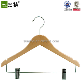 mat finish men shirt hangers with clips