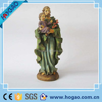 "4"" ST. JOSEPH & CHILD JESUS STATUE Adheseive For Car Dashboard"