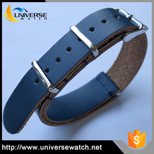 Fashion Ultra Thin Sports Watch Bands 20mm Nato Genuine Leather Watch Strap