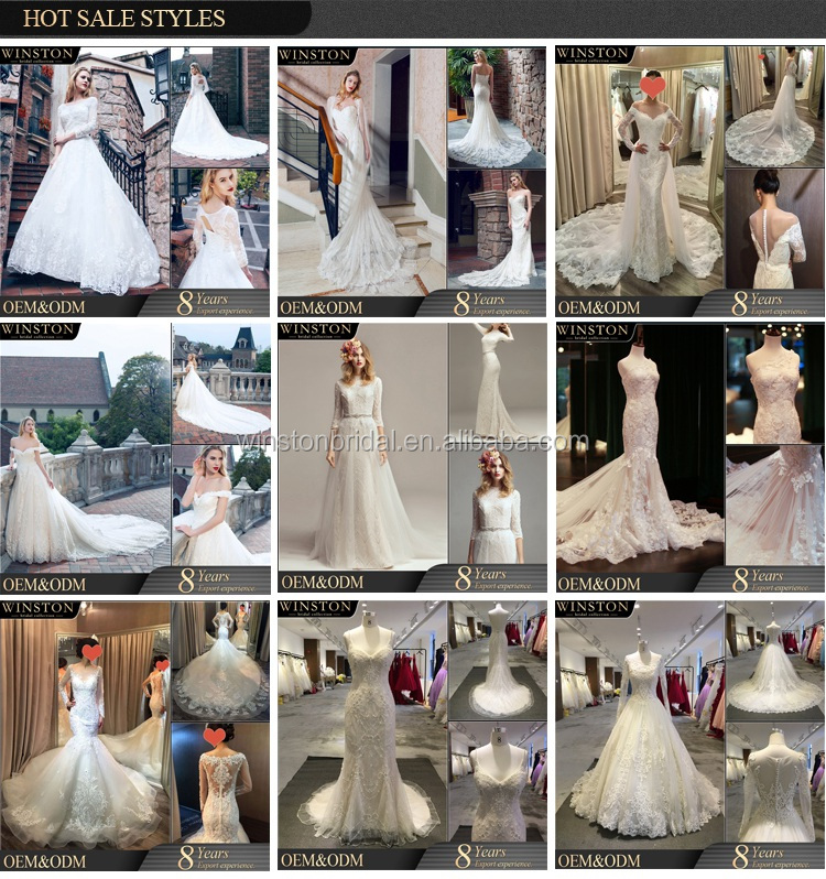 High Quality Custom Made double layer lace fancy bridal dresses