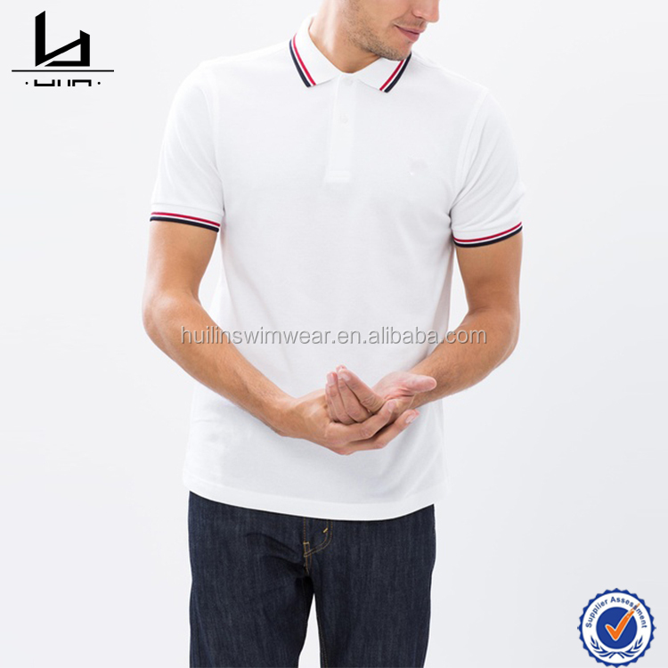 Cotton Polo Neck T-shirt for men wholesale polo shirt slim fit white men