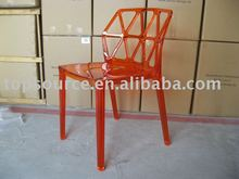 2014 modern PC dining chair in orange color