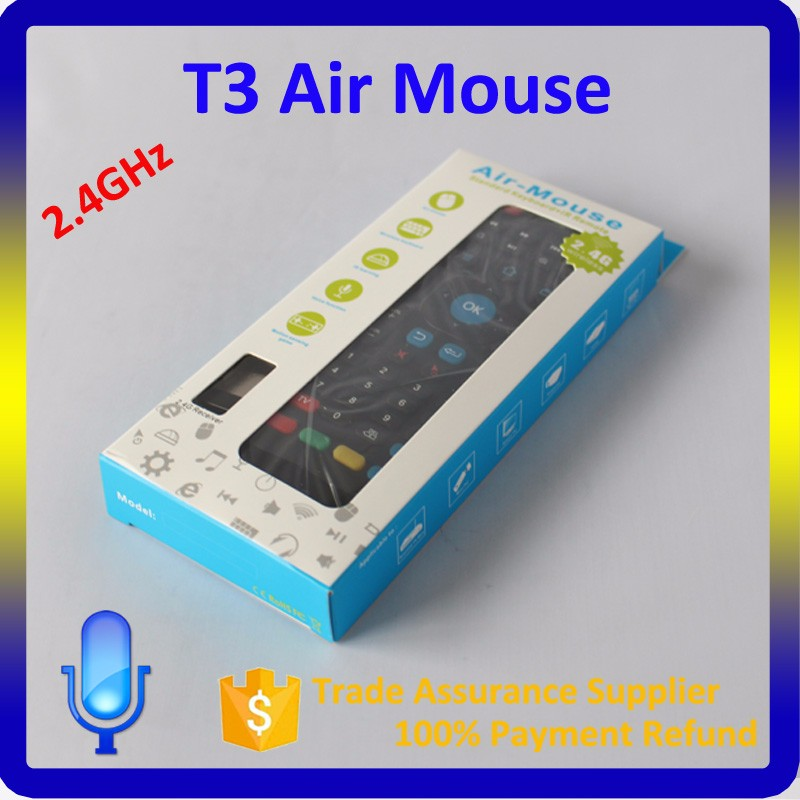 2016 Top Sale T3 MX3 Air Mouse with IR Learning Universal Remote Control for Smart TV