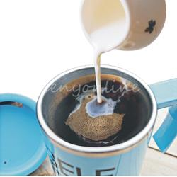 Good Promotion 3 colors Creating Stainless Steel Electric Lazy Self Stirring Mug Automatic Mixing Tea Coffee Cup Office Home