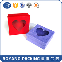 Newest heart shaped wedding invitations paper box